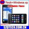 windows xp cell phone 7 inch tablet PC with Windows XP OS