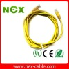 yellow patch cord